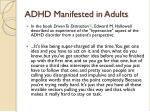 adhd manifested in adults1
