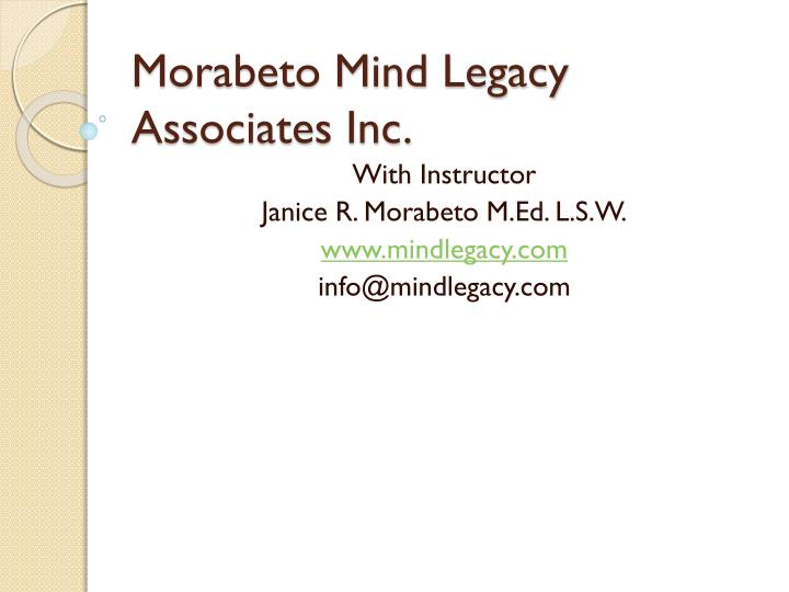 morabeto mind legacy associates inc n.