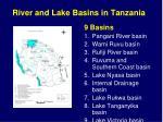 river and lake basins in tanzania