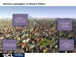 service synergies in smart cities