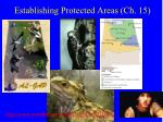 establishing protected areas ch 15