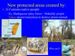 new protected areas created by2