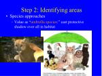 step 2 identifying areas2