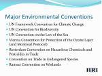 major environmental conventions