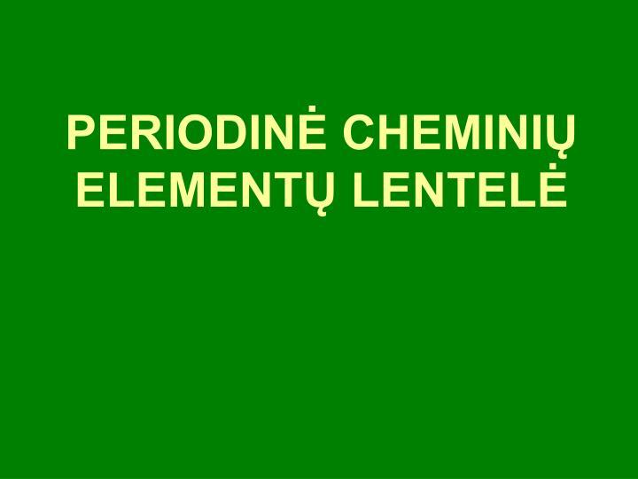 Periodin chemini element lentel