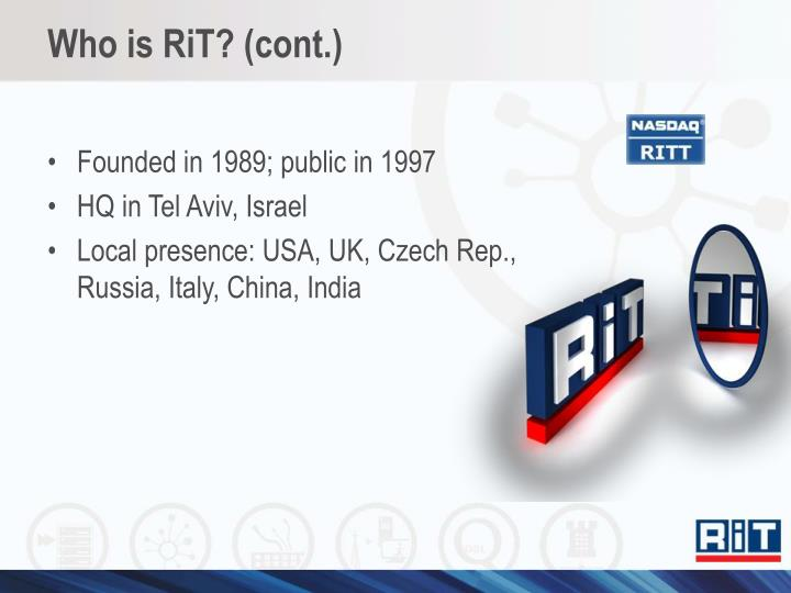 Who is rit cont