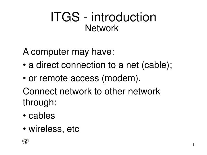 itgs introduction n.
