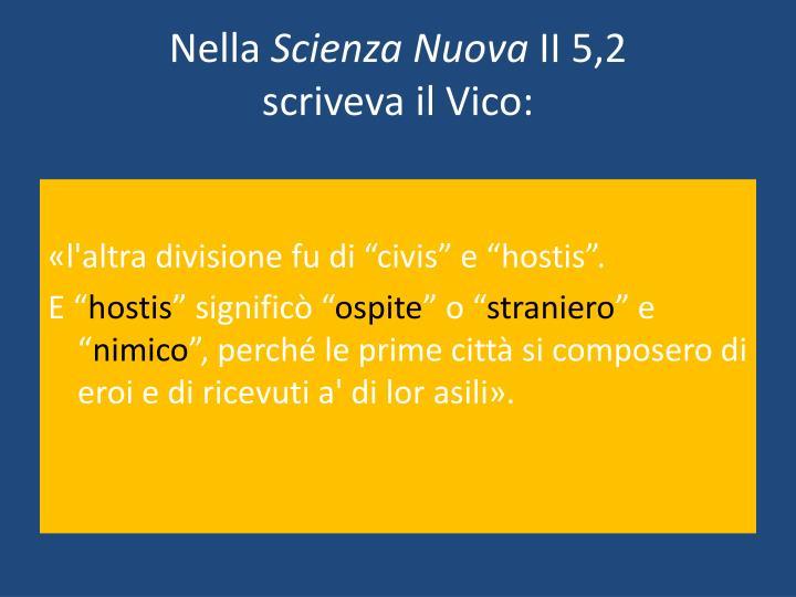 Nella scienza nuova ii 5 2 scriveva il vico