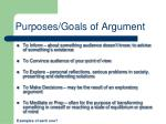 purposes goals of argument
