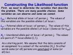 constructing the likelihood function