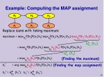 example computing the map assignment