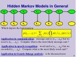 hidden markov models in general