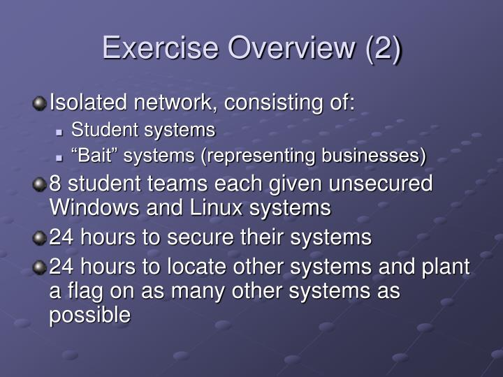 Exercise Overview (2)