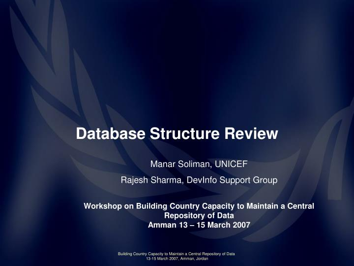 database structure review n.