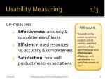 usability measuring 1 3