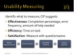 usability measuring 3 3