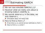 estimating garch