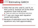 estimating garch4