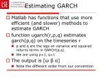 estimating garch5