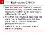 estimating garch6