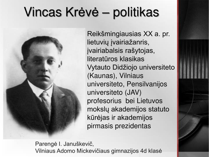 vinc as kr v politikas n.