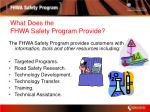what does the fhwa safety program provide