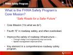 what is the fhwa safety program s core mission