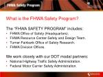 what is the fhwa safety program