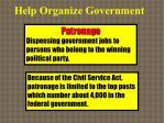 help organize government1