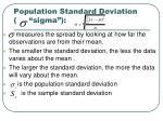 population standard deviation sigma