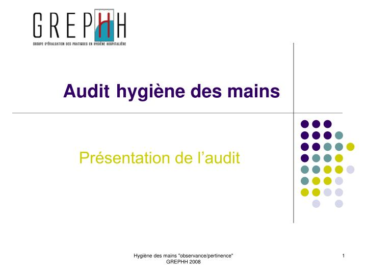 audit hygi ne des mains n.