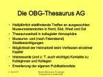 die obg thesaurus ag