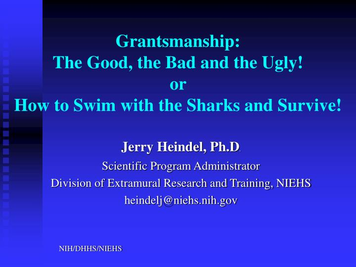 grantsmanship the good the bad and the ugly or how to swim with the sharks and survive n.