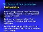 nih support of new investigators