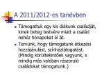 a 2011 2012 es tan vben