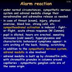 alarm reaction