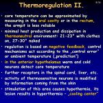 thermoregulation ii