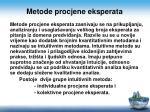 metode procjene eksperata