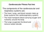cardiovascular fitness fact two