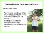 tools to measure cardiovascular fitness