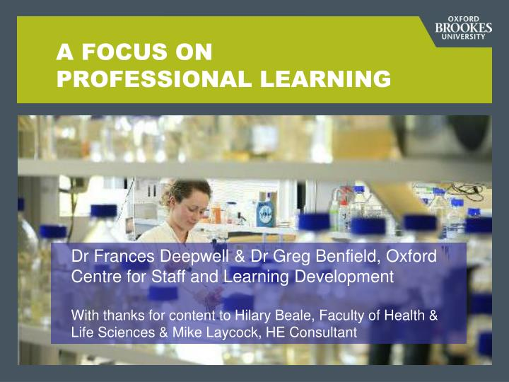 a focus on professional learning n.