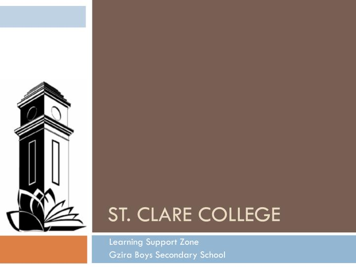 st clare college n.