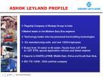 ashok leyland profile