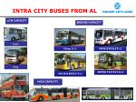 intra city buses from al