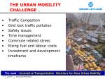 the urban mobility challenge