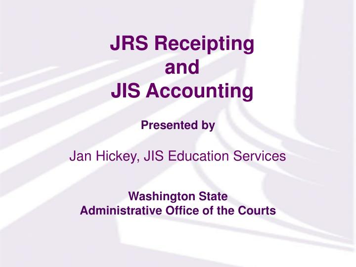 jrs receipting and jis accounting n.