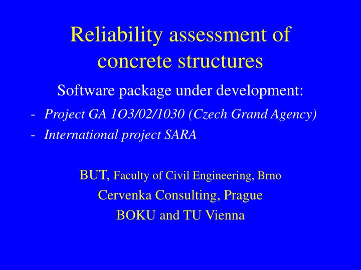 reliability assessment of concrete structures n.