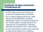 ampliaci n de plazo contractual procedimiento ii