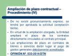 ampliaci n de plazo contractual procedimiento iv