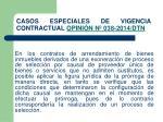 casos especiales de vigencia contractual opini n n 038 2014 dtn